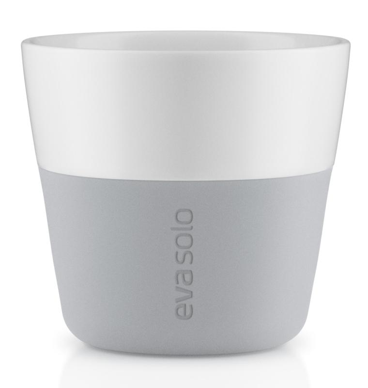 Hrnky na kávu Lungo šedé 230ml, set 2ks, eva solo
