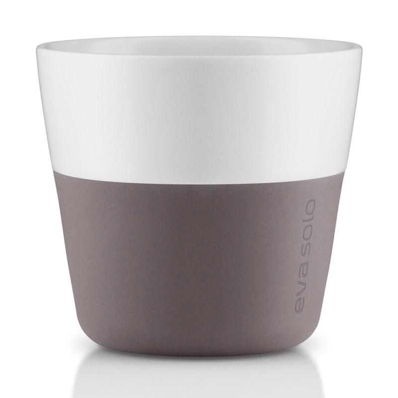 Hrnky na kávu Lungo 230 ml set 2ks, šedá, Eva Solo