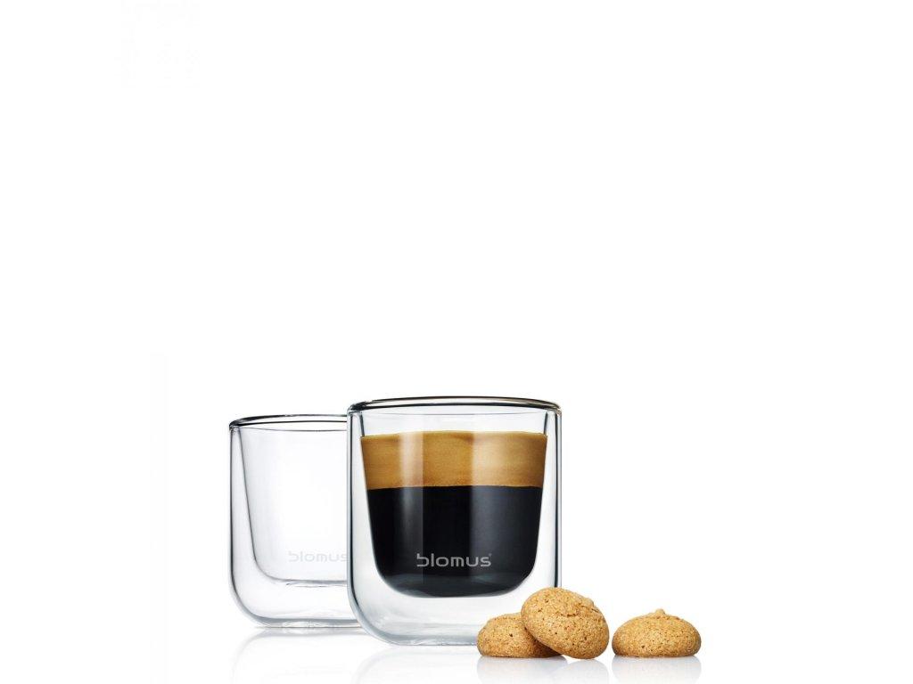 23736 1 set 2 ks termosklenic na espresso nero blomus