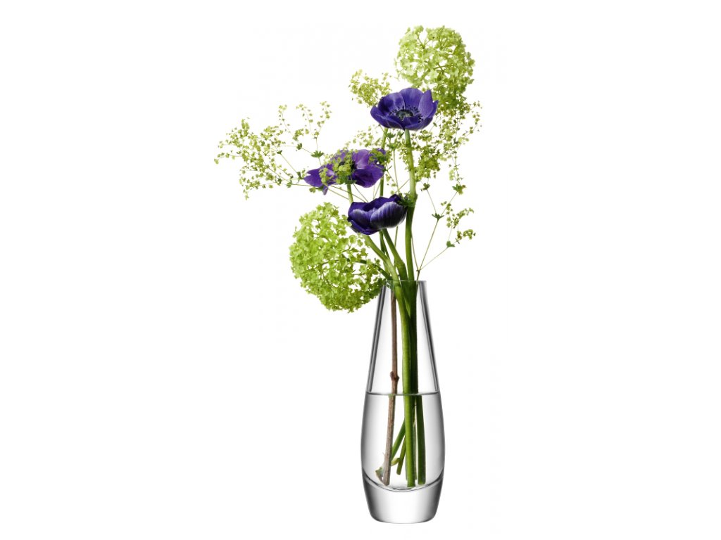 14273 lsa flower single stem vaza sklenena 17cm cira handmade