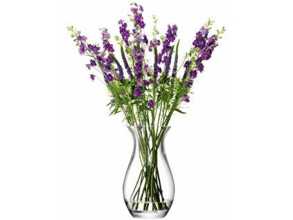 27398 flower grand posy sklenena vaza 32cm lsa handmade