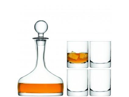 14513 lsa darkovy set whisky 4 sklenice 250ml karafa 1 6l cire handmade