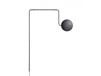 """Fali lámpa """"Mercury"""", 2 változat - Woud (Varianta fekete fém, opál üveg)"""