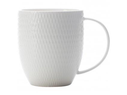 White+Basics+Diamonds+370ml+Coupe+Porcelain+Mugs