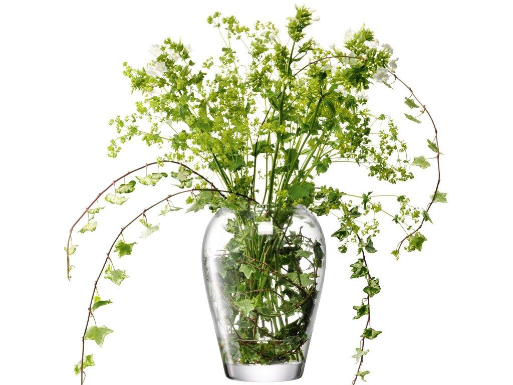 27401 flower garden sklenena vaza v 25cm cira lsa handmade