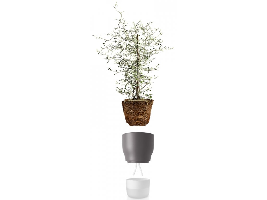 14970 samozavlazovaci kvetinac kridove sedy v 18cm eva solo