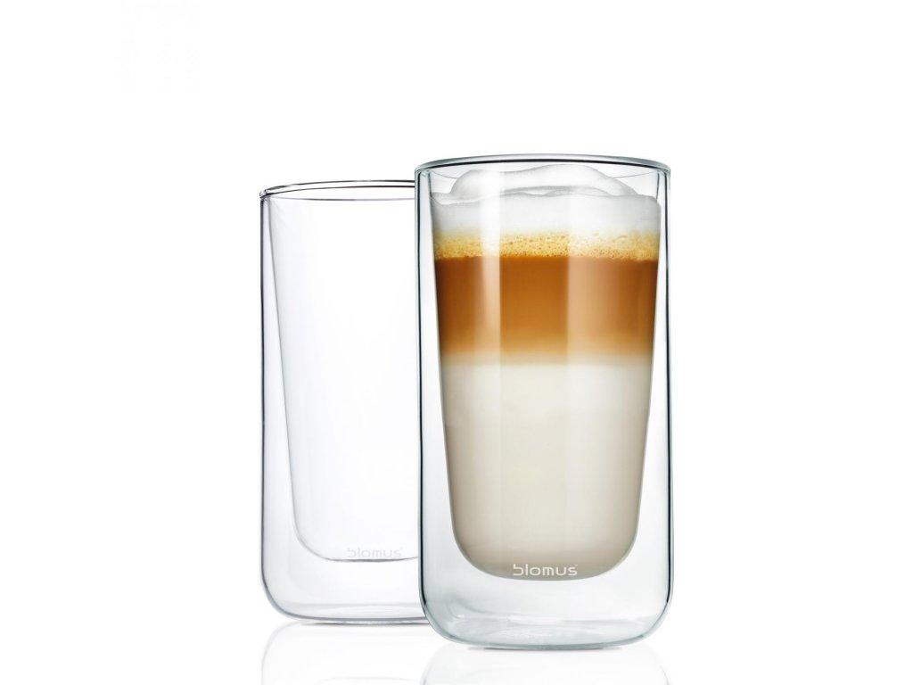 23745 1 set 2 ks termosklenic na latte macchiato nero blomus