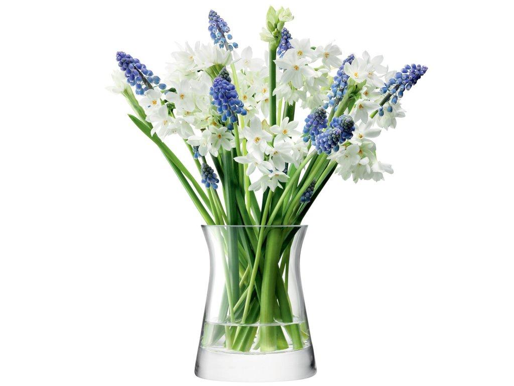 27404 flower garden posy sklenena vaza v 13cm cira lsa handmade
