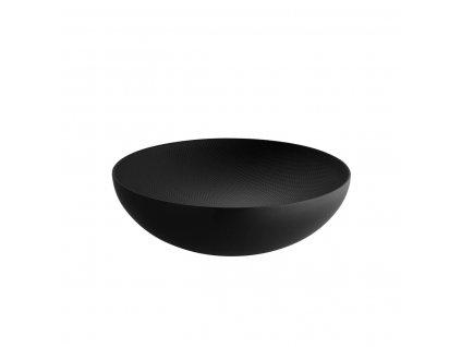 Alessi Doppelwandige Schale 25 x H 7 3 cm schwarz mit Reliefdekor