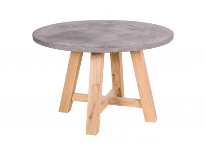 28481 betonovy jidelni stul eetfunk kohoutek old wood