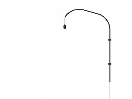 33731 3 stojan pro lampu na zed willow wall hanger single black h 123 cm umage