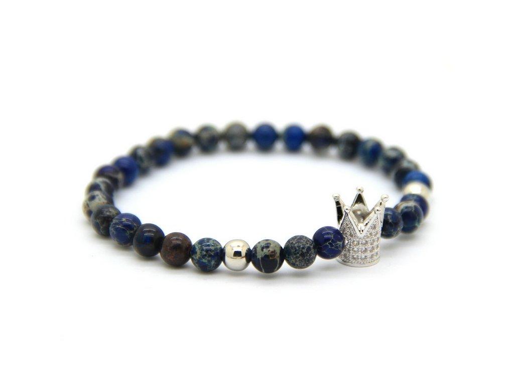 Crown modrý náramek