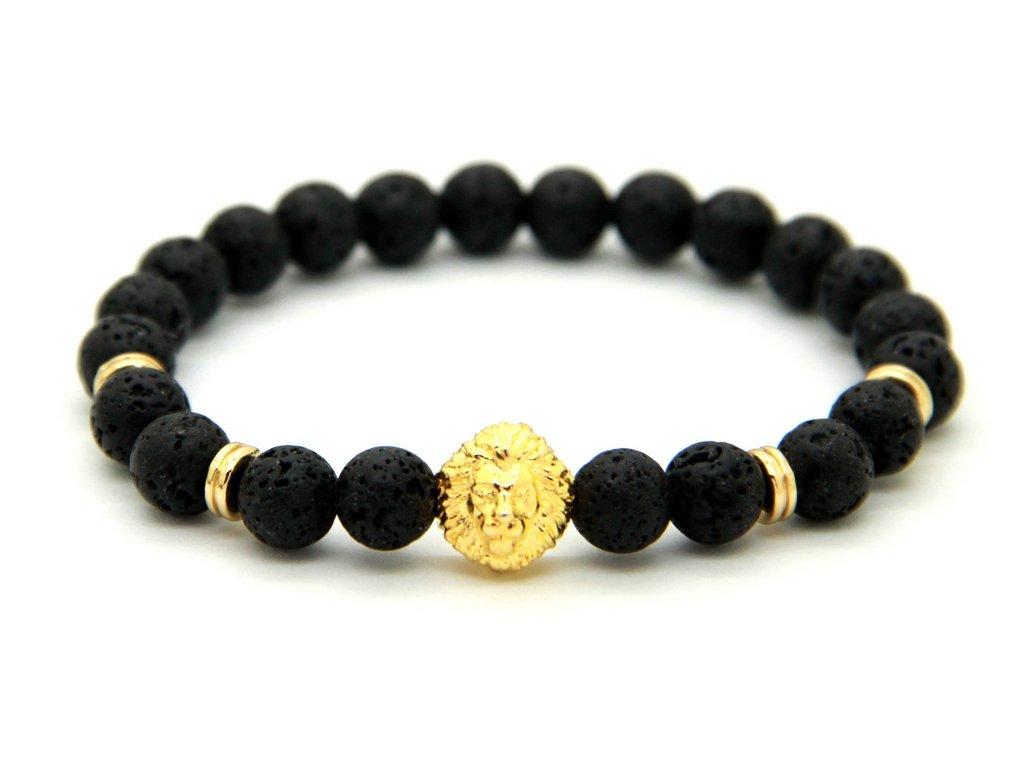 Zlatý lev s lávovými kameny