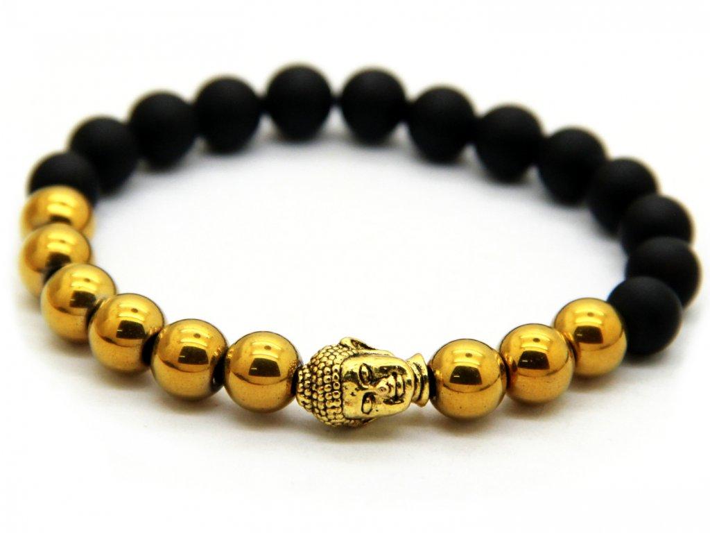 Zlatý Buddha náramek