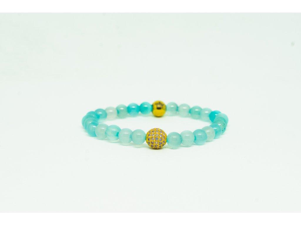 Emperor zlatý náramek s opálovými kameny