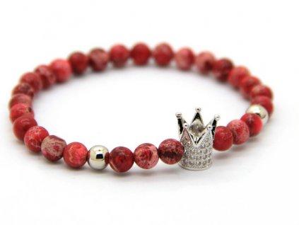 Crown Červený náramek