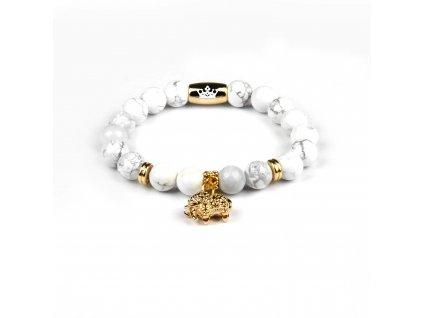 Zlatý slon s howlitovými kameny