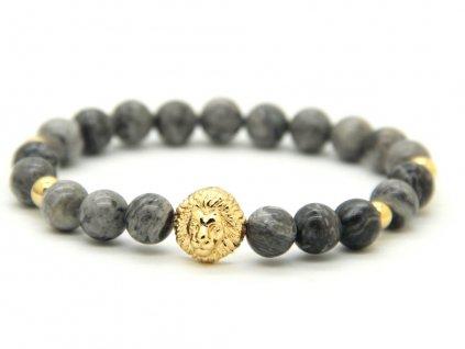 ZZZZlatý lev s jaspisovými kameny