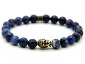 Premium modrý Buddha náramek