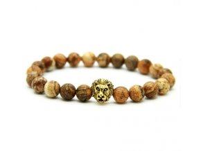 Pánský lev náramek Decorus