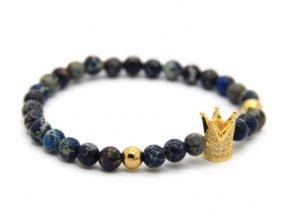 Decorus zlatý crown náramek2