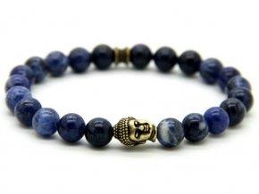 Decorus Buddha modrá náramek