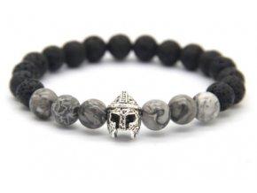 ZZZStříbrná přilbice s jaspisovými kameny