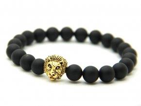Zlatý lev s matnými kameny