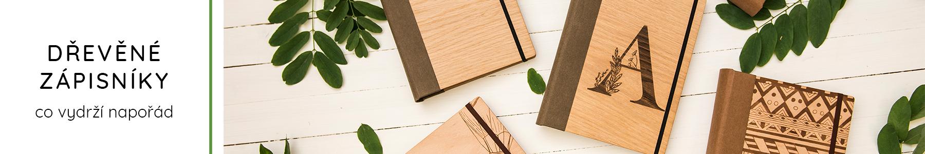 Dřevěné zápisníky