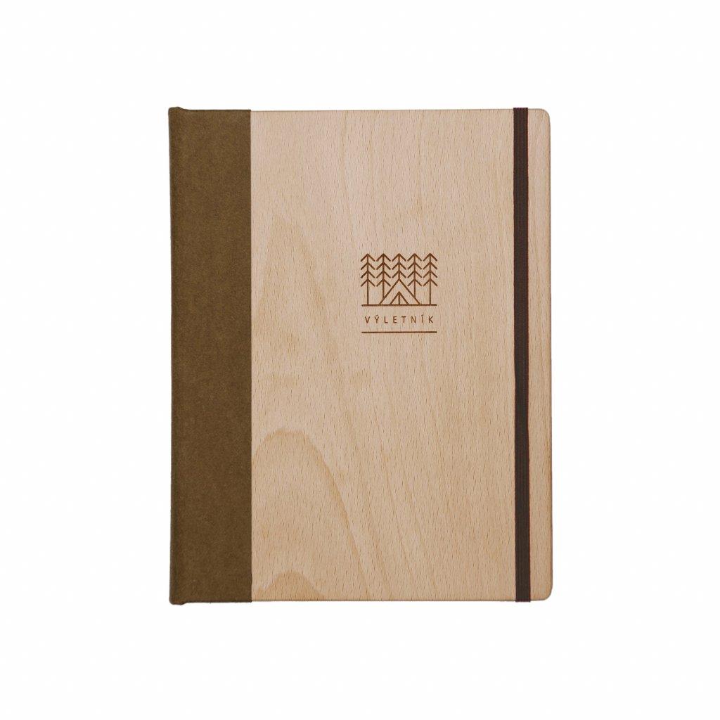 Dřevěný zápisník Výletník