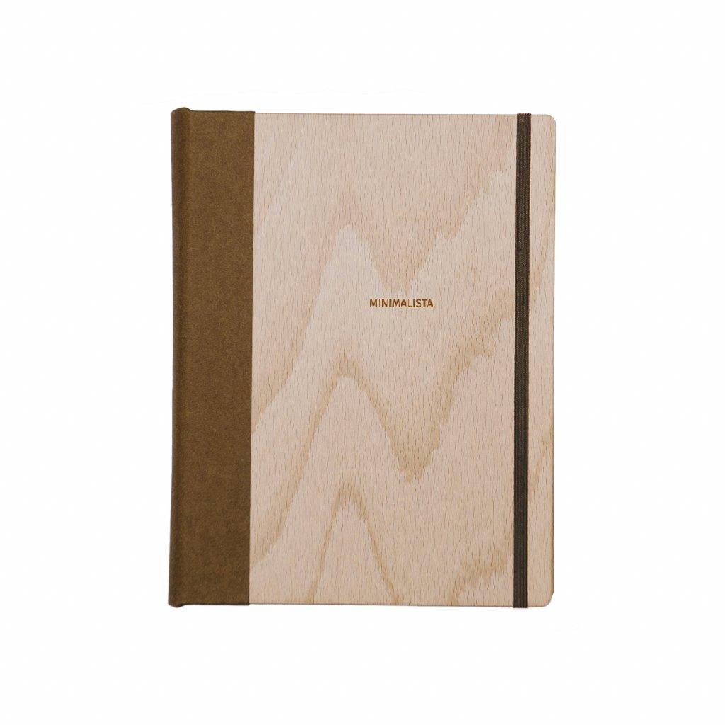 Dřevěný zápisník minimalista