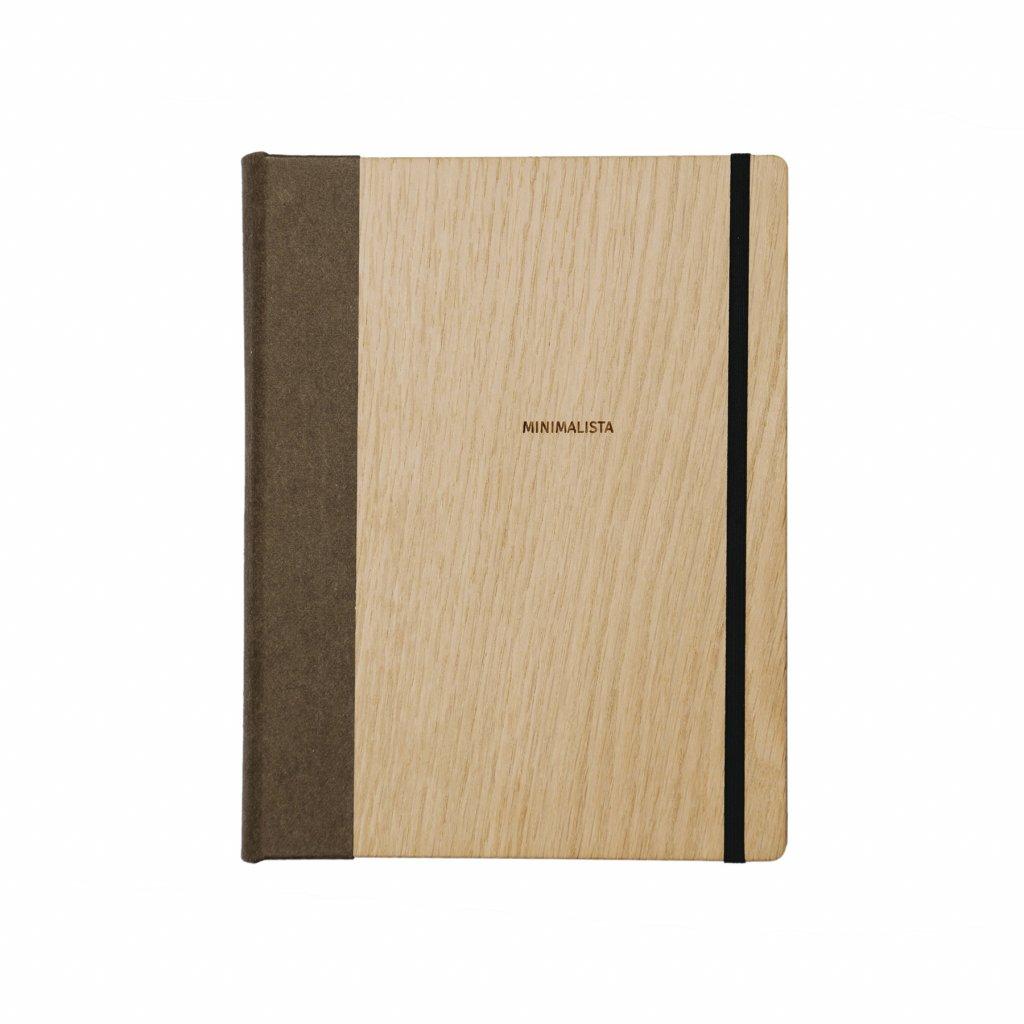 Dřevěný zápisník Minimalista dub