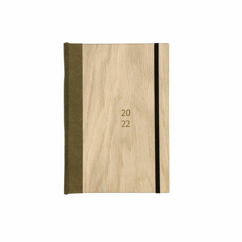 Dřevěný diář Dub