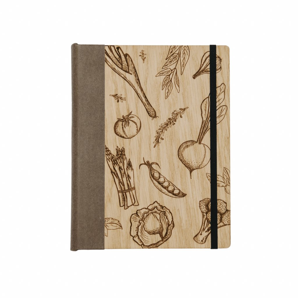 Dřevěný zápisník Na recepty