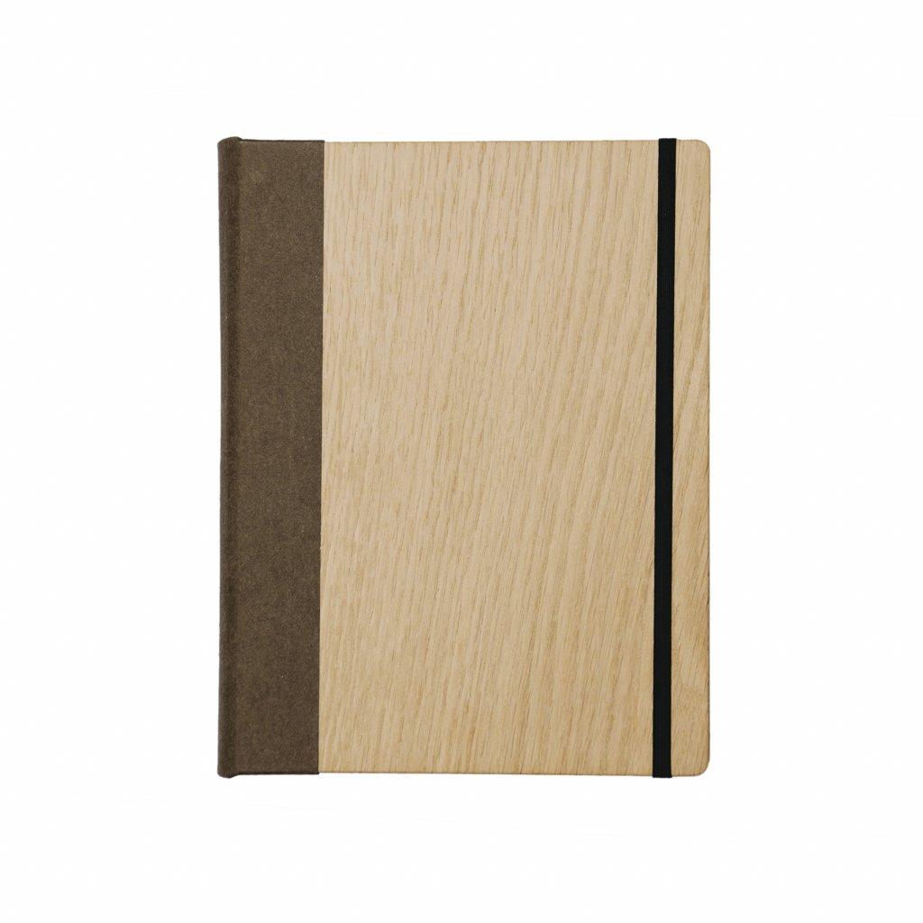Dřevěný zápisník dub