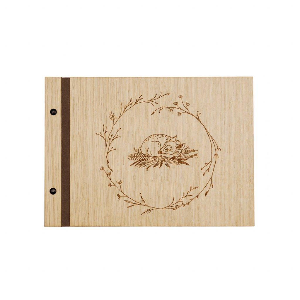 Dřevěné fotoalbum koloušek A4