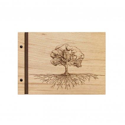 Dřevěné fotoalbum Strom A4