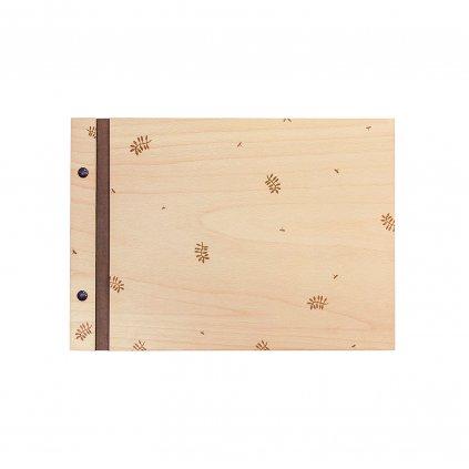 Dřevěné fotoalbum lístky A4 n