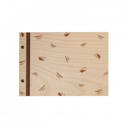 Dřevěné fotoalbum lodičky A4
