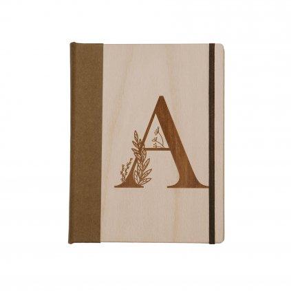 Dřevěný zápisník písmeno na přání