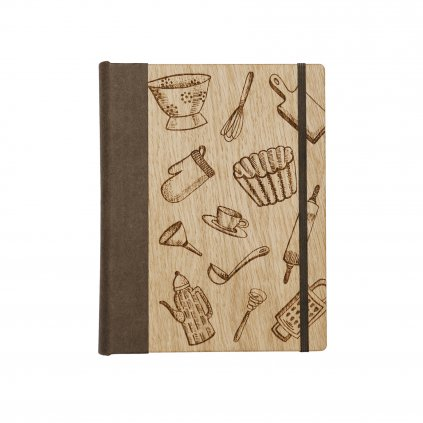 Dřevěný zápisník Sladká kuchařka
