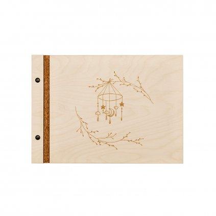 Dřevěné fotoalbum kolotoč A4