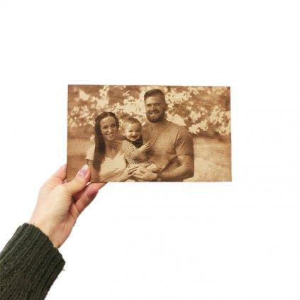 fotka na dřevo