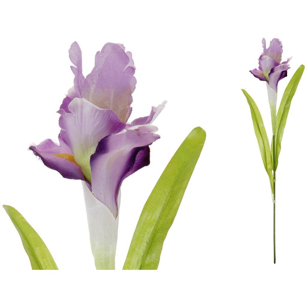 Iris, barva bílo-fialová, květina umělá.