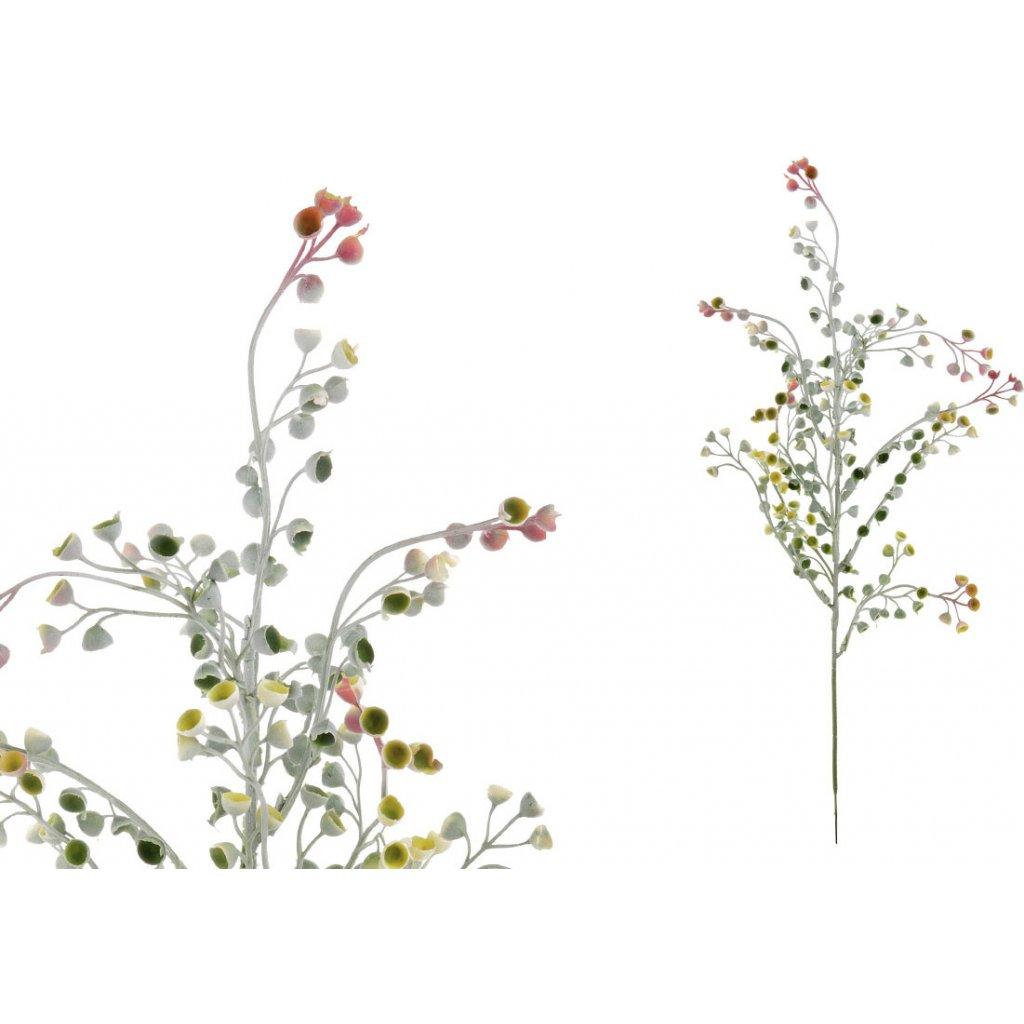 Květina umělá plastová. Barva lilo-růžová. Cena za 1ks(ve svazku 6ks).