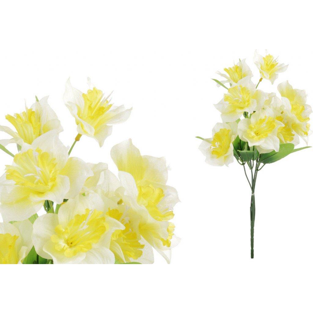 Narciska, umělá květina, barva žluto-oranžová