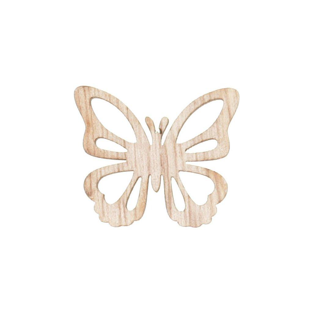 Motýlci dřevění 24 kusů v plastové krabičče