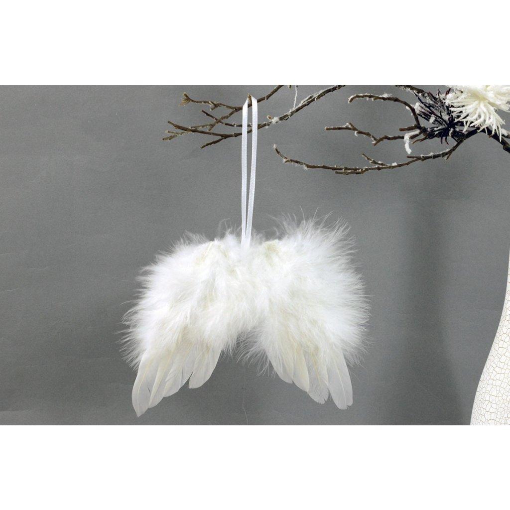 Andělská křídla z peří bílá