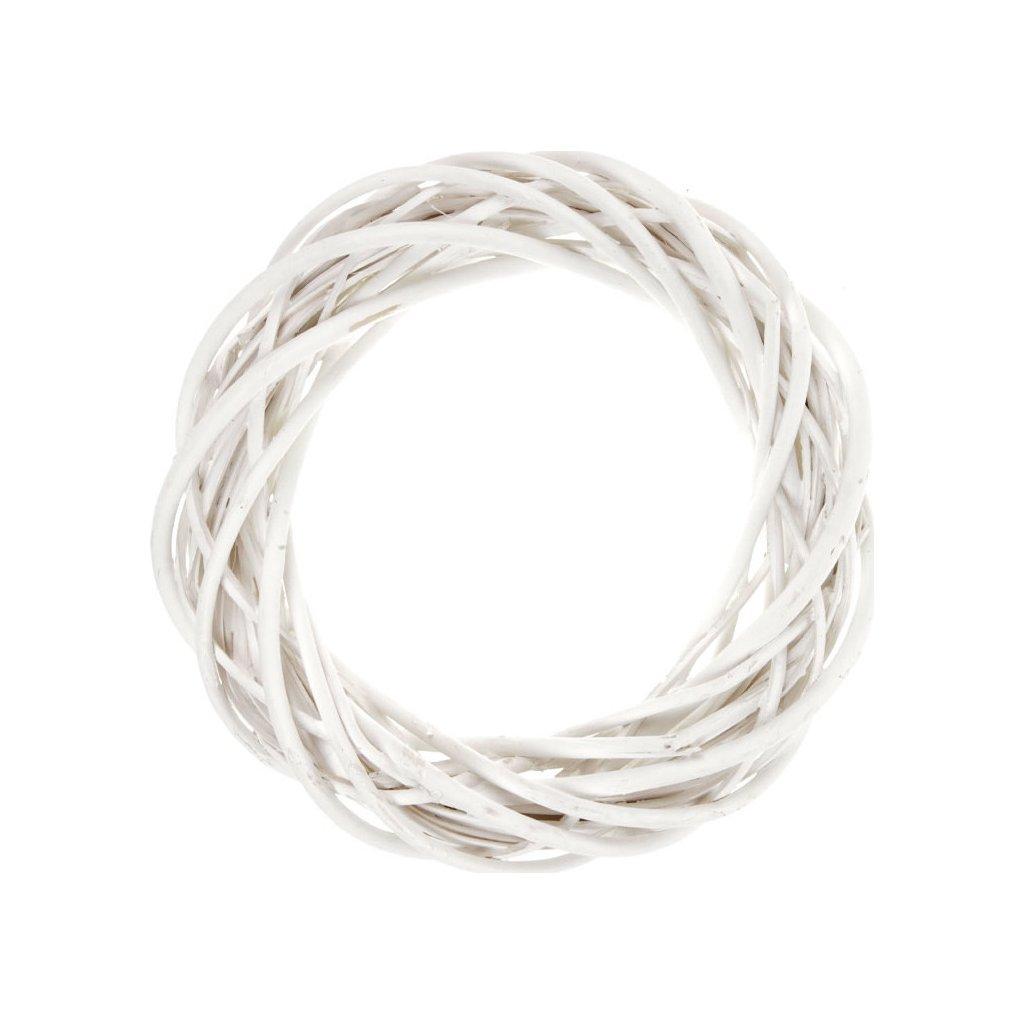 Proutěný věnec bílá barva
