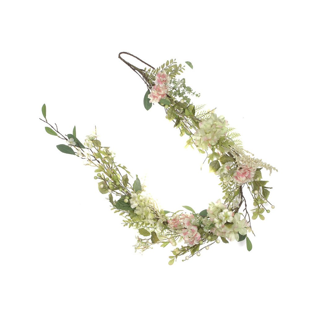 Girlanda květinová hortenziová